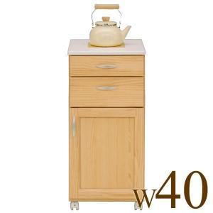 ニトリ IKEA 無印好きに人気のキッチンカウンター 完成品 天板タイル付き、キャスター付き、背面化...