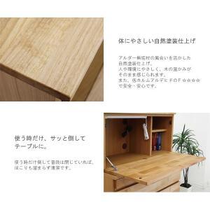 ライティングデスク 北欧 収納 木製 天然木 完成品|stepone09|05