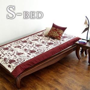 シングルベッド アジアン家具 すのこベッド チーク無垢 木製 フレームのみ|stepone09