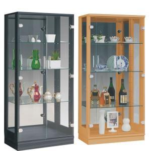 コレクションケース コレクションボード 幅60 完成品 選べる4色 ハイタイプ 奥行き35cm 高さ130 白 ガラスケース ショーケース ディスプレイ 壁面収納の写真