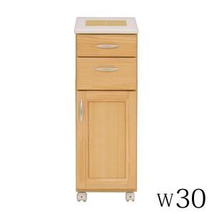 ニトリ IKEA 無印好きに人気のキッチンカウンター天板タイル付き、キャスター付き、背面化粧仕上げで...