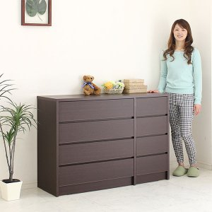 幅120cmシンプルモダンなニトリ IKEA 無印好きに人気のチェストです。 安心・丁寧の国産品。 ...