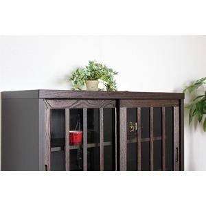 リビングボード サイドボード キャビネット 木製  90cm 完成品 和 和風|stepone11|02