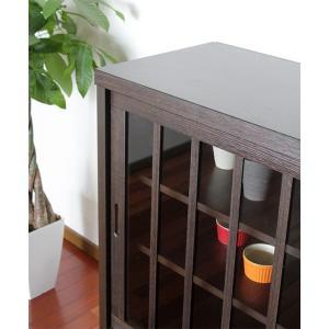 リビングボード サイドボード キャビネット 木製  90cm 完成品 和 和風|stepone11|03