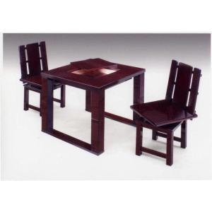 民芸ダイニングセット 民芸ダイニングテーブルセット 2人用 和モダン 座卓兼用食卓セット|stepone11