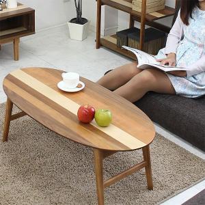 ローテーブル リビングテーブル センターテーブル 100 折りたたみ オーバルテーブル シンプル モダン 北欧 MARK|stepone2008