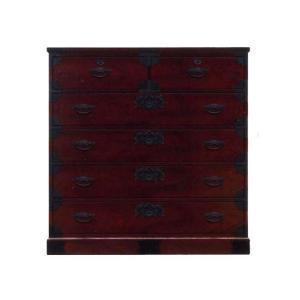 民芸家具 箪笥 和モダン 国産 105 ミドルチェスト DBR SALE セール (開梱設置無料)|stepone2008