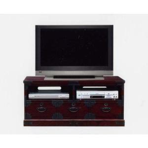 和風 和モダン民芸家具 テレビボード テレビ台 オープン 105 (開梱設置無料)|stepone2008