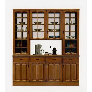食器棚 キッチン収納 幅180 和風 和モダン 両面ハッチ SALE セール (開梱設置無料)|stepone2008