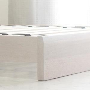 ローベッド  シングルベッド フレームのみ すのこベッド 北欧 ホテル仕様 白 (SALE セール) stepone2008 03