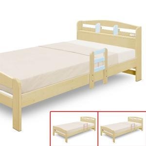 パイン材の独特の木目がお部屋を彩るカントリー調ベッドです。手摺りもついて起き上がりに便利です。コンセ...