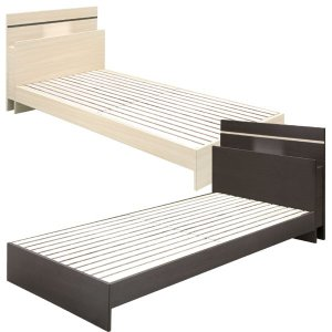 ベッド フレームのみ シングルベッド MDF LVLスノコ仕様 シンプル カジュアル コンセント付 ...