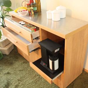 キッチンカウンター レンジ台 収納 おしゃれ 完成品 幅120cm 北欧|stepone2008|03