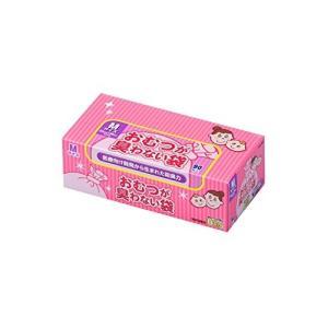 驚異の防臭袋 BOS (ボス) おむつが臭わない袋 赤ちゃん用 おむつ 処理袋  袋カラー:ピンク  (Mサイズ 90枚入)|steppers