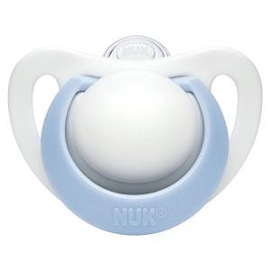 ヌーク NUK おしゃぶり きれいな歯並びのために ジーニアス 2.0 (キャップ付) S【0~6ヶ月】/シリコーン/ブルー OCNK023010|steppers
