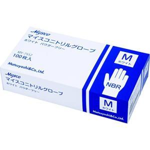 使い捨て手袋 ニトリルグローブ ホワイト 粉なし(サイズ:M)100枚入り 病院採用商品|steppers