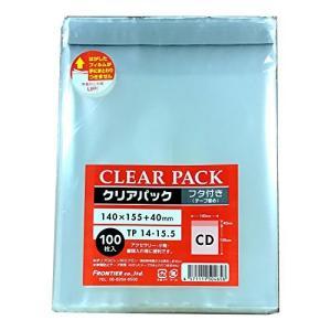 カクケイ OPP袋 クリアパック フタ付 テープ付 30μ 100枚 TP14-15.5|steppers