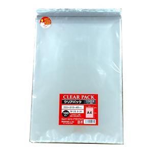 カクケイ OPP袋 クリアパック フタ付 テープ付 30μ 100枚 TP22.5-31|steppers