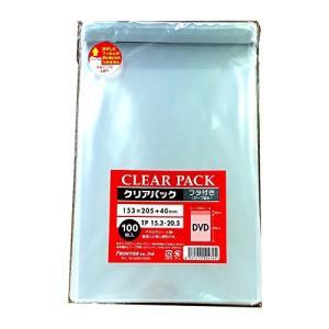 カクケイ OPP袋 クリアパック フタ付 テープ付 30μ 100枚 TP15.3-20.5|steppers