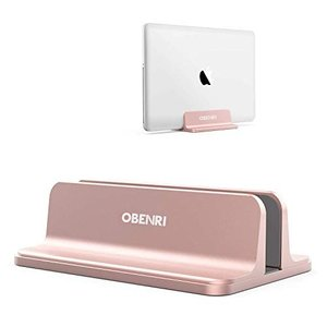 ノートパソコン スタンド 縦置き 収納 ホルダー幅調整可能 アルミ合金素材 OBENRI Vertical Laptop Stand Desiged for MacBook Pro Air Mini Clamshell Mode|steppers