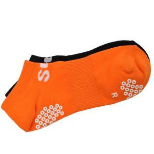 ゆうパケット StePオリジナル 2足組みアンクルソックス ブラック/オレンジ 2P SOCKS メンズ レディーズ 靴下 黒 橙 ステップスポーツPayPayモール店