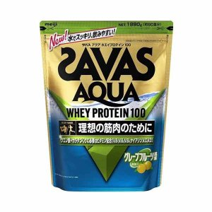 ☆【ザバス】SAVAS アクアホエイプロテイン100 グレープフルーツ風味1890g(90食分) 【...