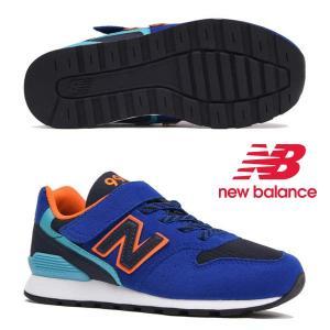ニューバランス キッズ スニーカー YV996 TBU ブルー/オレンジ(BLUE/ORANGE)n...