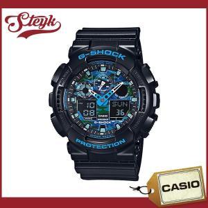 【あすつく対応】CASIO カシオ 腕時計 G-SHOCK ジーショック アナデジ GA-100CB-1A メンズ|steyk