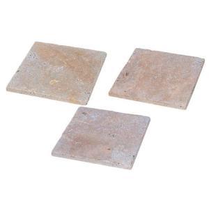 トラバーチン ピンク 方形 300×300 アンティーク仕上 【送料別途】|stgarden-seki