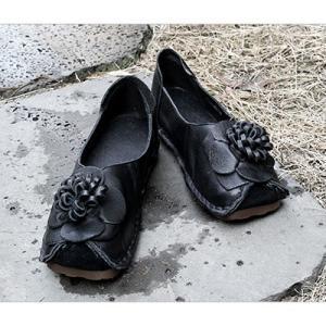 フラットシューズ レディース ペタンコ 本革 レザー 春 2018 モード系 個性的 40代 ファッション エモ系 ALICEGOHOME|stile-moda