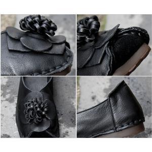 フラットシューズ レディース ペタンコ 本革 レザー 春 2018 モード系 個性的 40代 ファッション エモ系 ALICEGOHOME|stile-moda|04