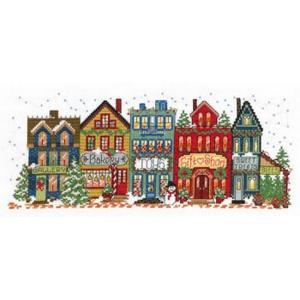 Holiday Main Street - Imaginatingクロスステッチキット14ctアイーダ stitch-being