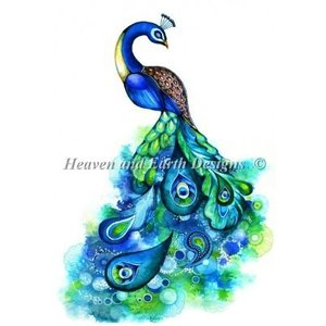 Peacock Fantasy AKクロスステッチキット25ctルガナ-HAED(Heaven And Earth Designs) stitch-being