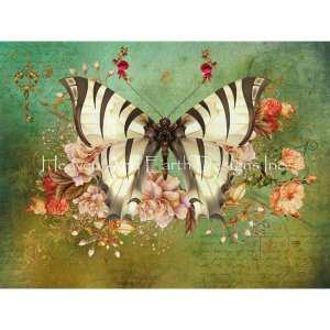 Butterfly Kisses JDGMクロスステッチキット25ctルガナ-HAED(Heaven And Earth Designs) stitch-being