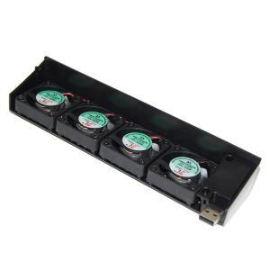 KOZEEYsonyPS3ホストコンピュータに適用する4個の専用USBの放熱ファンコントローラー [PlayStation]