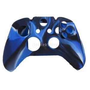 ノーブランド品 Xbox One用 コントローラカバー 保護ケース 交換用 シリコン ネイビーと黒