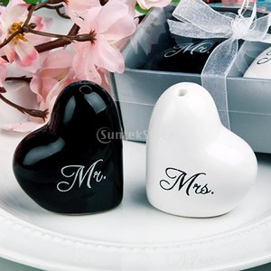 スパイス瓶 ハート型 黒と白 ギフト ウェディングキット パーティー 結婚式|stk-shop