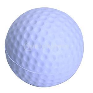 ゴルフボール 練習球  ゴルフトレーニングソフトボール PU製 練習用 (ライトパープル)|stk-shop