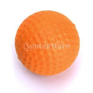 ゴルフボール 練習球  ゴルフトレーニングソフトボール PU製 練習用 (オレンジ)|stk-shop