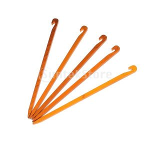 これらの針ステークロッキーとハードパックされた地面にテントを引っ張るのに適している。これらの針テント...
