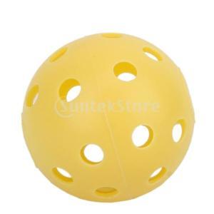 20pcs ゴルフボール 練習球 黄色 穿孔ボール 穴あきボール|stk-shop