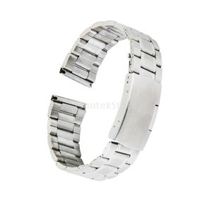 時計バンド 交換ベルトステンレス製 腕時計ストラップ 20mm シルバー stk-shop