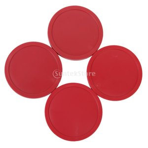 ノーブランド品エアホッケーテーブルのアーケードゲームパック82ミリメートル赤4本