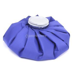 Fenteer 9インチ氷嚢 氷の袋 アイスバッグ 氷嚢熱コールドパック 怪我 痛み 軽減 生活 便利 グッズ