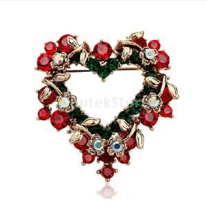 送料無料ノーブランド品レディース クリスマス 卒業式結婚式用 ハート形 コサージュ  ブローチ