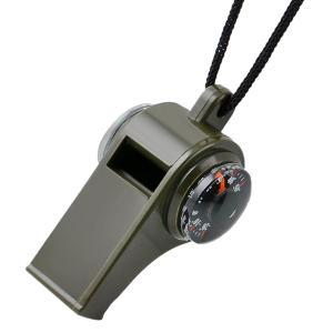 ノーブランド品 キャンプ ハイキング 緊急 ホイッスル サバイバルギア 笛 コンパス 温度計