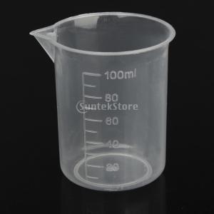 ビーカー 100ml 計量カップ クリア ポリプロピレン