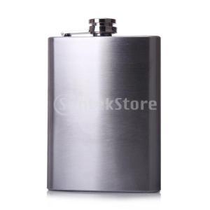 ノーブランド品8オンスステンレス鋼の酒ヒップフラスコスクリューキャップ銀|stk-shop