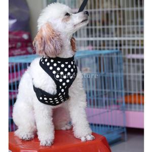 Baosity 全4色5サイズ選べる 子犬 犬用 可愛い ハーネス ペット用胴輪 犬用胴輪 通気性 高強度    - ブラック, M stk-shop
