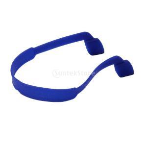 ノーブランド品 子供用 シリコーン メガネ ストラップ スポーツ バンド コード ホルダー サングラス コード 5色選ぶ - 青 stk-shop